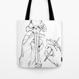 Holding Skeletons Tote Bag