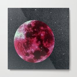 blood moon and star dust Metal Print