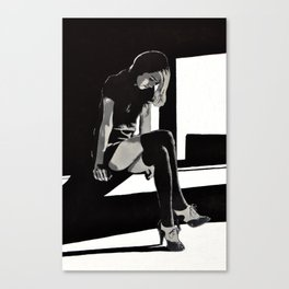 In Shadows Canvas Print