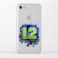 12th Man Seahawks Seattle Go Hawks Art Clear iPhone Case