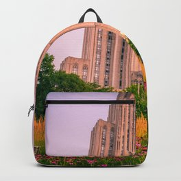 Pittsburgh Cathedral Of Learning Flower Garden Backpack