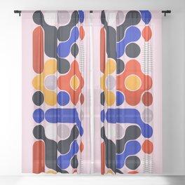 Mid-century no5 Sheer Curtain