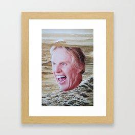 Busey Beach Framed Art Print