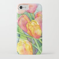 tulips iPhone & iPod Cases featuring Tulips by Susan Windsor