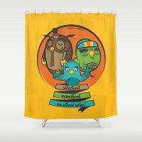 school Shower Curtains featuring school by blablasah
