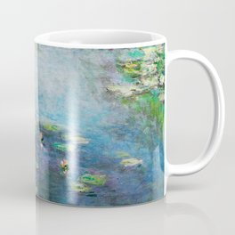 1906 Waterlily on Canvas.  Claude Monet . Vintage fine art. Coffee Mug