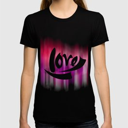Love Digital Design - Purple Motion Blur Design Background T-shirt