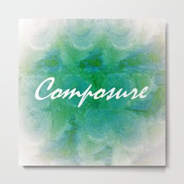 Composure Metal Print