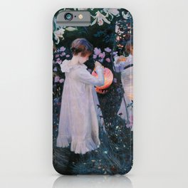John Singer Sargent ; Carnation, Lily, Lily, Rose ; 1886 iPhone Case