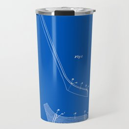 Hockey Stick Patent - Blueprint Travel Mug
