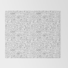 Physics Equations on Whiteboard Throw Blanket