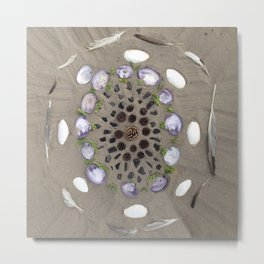 Nature mandala - 001 Metal Print