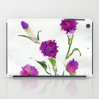 freud iPad Cases featuring You Know What Freud Said About Carnations by Kate Havekost Fine Art