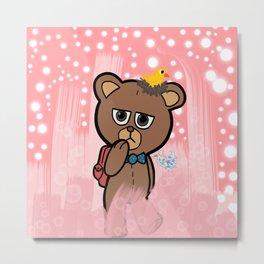 Bear Wondering Metal Print