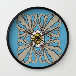A Flower in the Moonlight Wall Clock