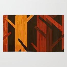 Retro Fall Woods by Friztin Rug