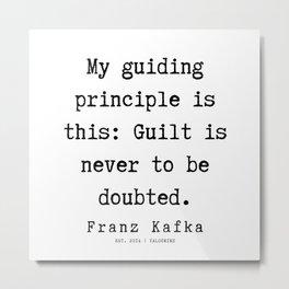 53  | Franz Kafka Quotes | 190910 Metal Print