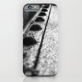 Rivets in Steel Girder Black and White Industrial Art iPhone Case