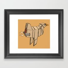 Space Chicken Framed Art Print