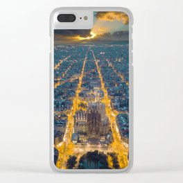 Sunset in Barcelona Clear iPhone Case