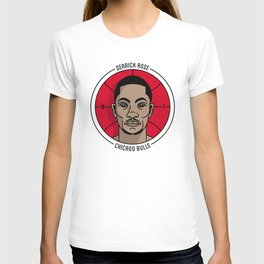 Derrick Rose Badge Illustration T-shirt