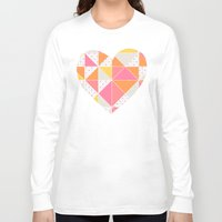 girly Long Sleeve T-shirts featuring Girly Geometry by micklyn