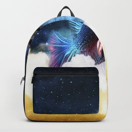 Fighting Fish Midnight Sky Backpack