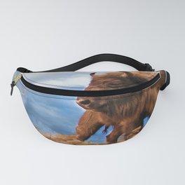Bison Chieftain Wildlife Art Fanny Pack