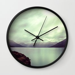Lake mountain light Wall Clock