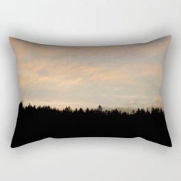 Forest Silhouette Rectangular Pillow