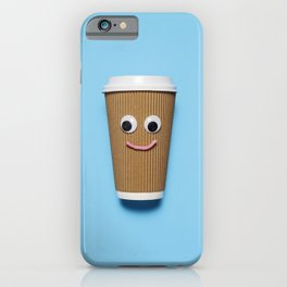 Happy disposable coffee cup iPhone Case