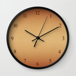 Orange beige colors gradient leather cloth Wall Clock