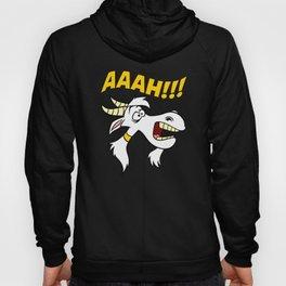 AAAH!! Screaming Lawnmower Gardening Farm Goat Hoody