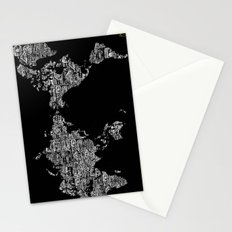 Passport Stamp Map Special Edition, Black and White Stationery Cards