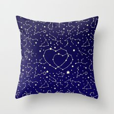Star Lovers Throw Pillow