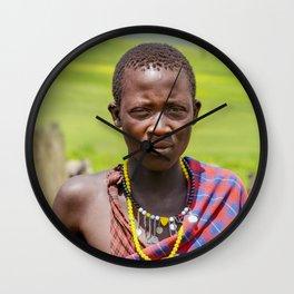 Portrait 4300 Young Maasai Wall Clock