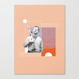PJ with a Pipe Canvas Print