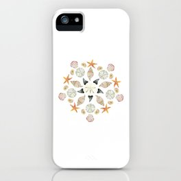 Florida Beachcombing Mandala 1 - Watercolor iPhone Case