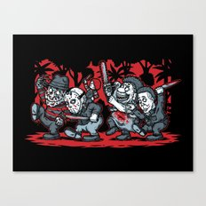 Where the Slashers Are (Grayscale) Canvas Print
