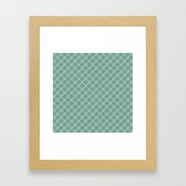 Christmas Green Holly and Ivy Tartan Check Plaid Framed Art Print