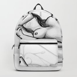 How to Love Yourself b&w Backpack