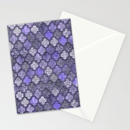 Shabby Chic Moroccan Tiles Faded Bohemian Luxury From The Sultans Palace In Shades of Purple Stationery Cards