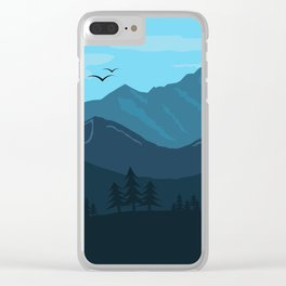 Blue Morning in the Mountains Clear iPhone Case