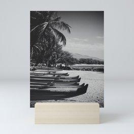 Sugar Beach Hawaiian Outrigger Canoes Kihei Maui Hawaii Mini Art Print