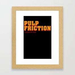 PULP FRICTION Framed Art Print