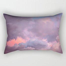 Pink and Lavender Clouds Rectangular Pillow