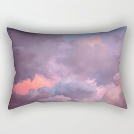Pink and Lavender Clouds Rectangular Pillow