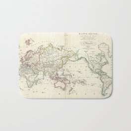 Vintage Map of The World (1816) Bath Mat