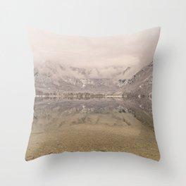 Lake Bohinj Reflection Throw Pillow