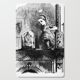 Alice climbing into the Looking Glass Land- John Tenniel Cutting Board